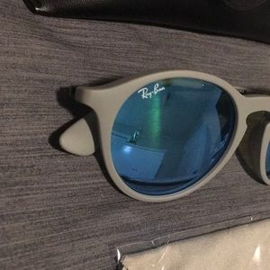 Authentic Grey Ray-Ban RB 4243 mirrored sunglasses